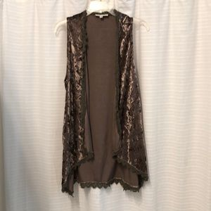 Women's Crushed Velvet Vest